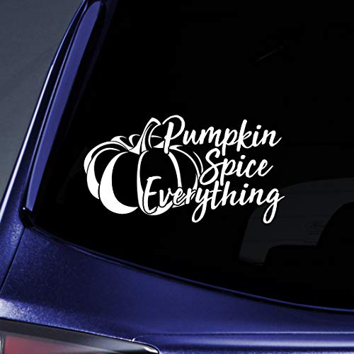Bargain Max Decals Pumpkin Spice Everything Sticker Decal Notebook Car Laptop 5.5