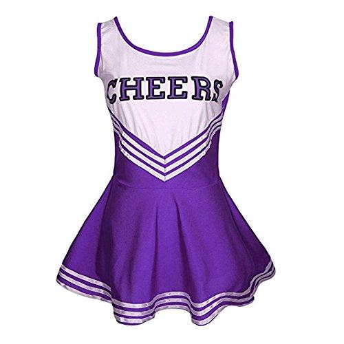 Tollbuy Women's Cheerleader Costume Musical Uniform Cosplay