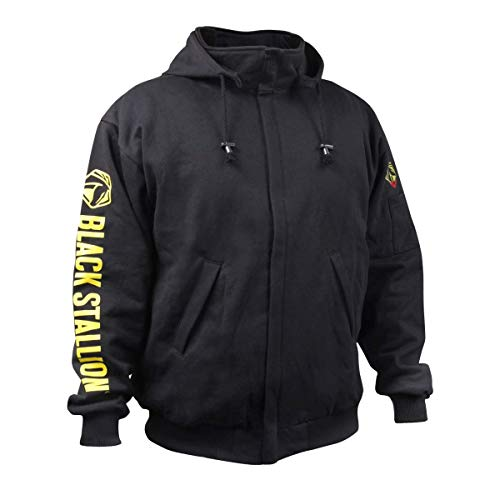 Revco/Black Stallion Truguard™ 200 Fr Cotton Black Hooded Sweatshirt Size-Med by Black Stallion (Image #6)