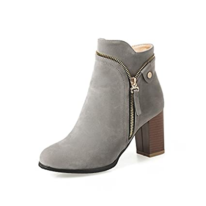 HOESCZS Frauen Schuhe Winter Neue Art Mit Starke Ferse Stiefel Mode Super Grö ß e Code 32 46 Damen Stiefel GDXVFASE