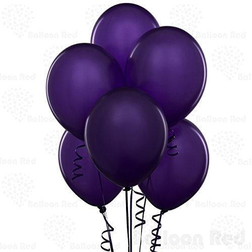 12 Inch Latex Balloons (Premium Helium Quality), Pack of 100, Deep (Purple Latex Balloons)