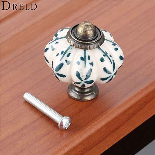 (Best Quality - Cabinet Pulls - 3833mm Antique Pumpkin Cabinet Knobs European Furniture Handles Ceramic Door Knob Drawer Cupboard Kitchen Pull Handle - by HIBISCUS. - 1 PCs)