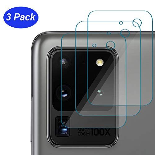 ROSAUI for Samsung Galaxy S20 Ultra Camera Lens Protector [3 Packs] Back Camera Lens Tempered Glass Screen High Definition Ultra-Thin Anti-Scratch Easy Install for Galaxy S20 Ultra/S20 Ultra 5G