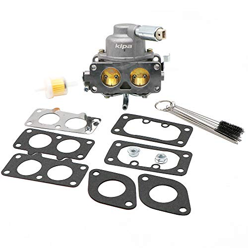 KIPA Carburetor for Briggs & Stratton 799109 799511 796606 V-Twin 44Q977 49M977 Engine John Deere Mower, with Carbon Dirt Jet Cleaner Tool Kit & Fuel Filter Mounting ()