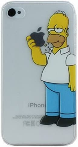 Homer Simpson iPhone 5/5s hard case - Free shipping (Homer Eating Apple)