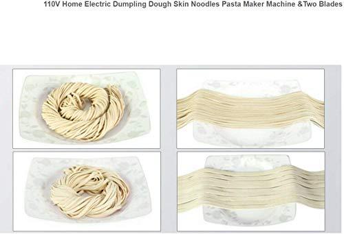 Electric Dumpling Dough Skin Noodles Pasta Maker Machine /&Two Blades Home TOP