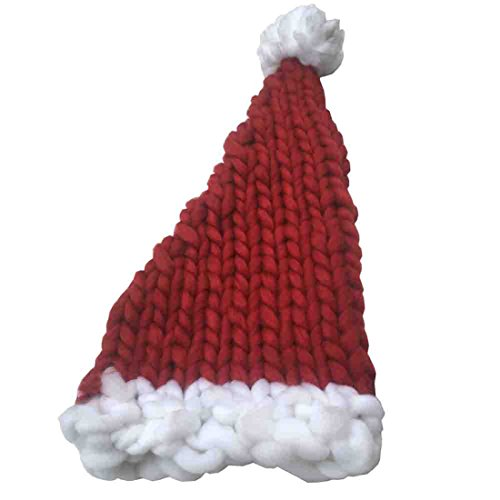 Toddler Moses Costume (Clearance!!!Christmas Hat MOSE Christmas Winter Baggy Long Tail Wool Warm Hat (A))