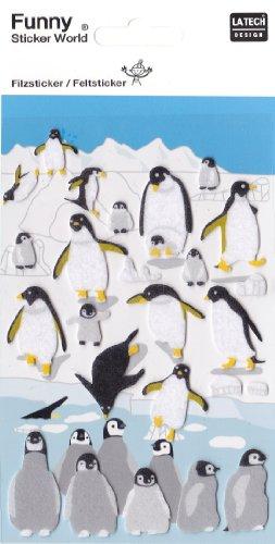 Funny Sticker: Cute Winter Animal Felt Sticker Set #1