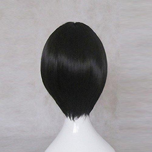 DuRaRaRa!! Heiwajima Kasuka Black Short Cosplay Wig + Free Wig Cap