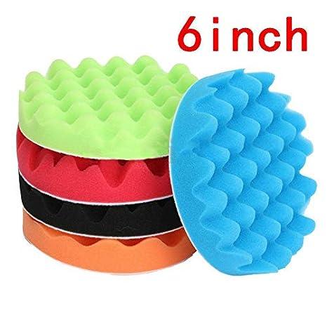 Mitts, Bonnets & Buffing Pads 5Pcs 6 inch Sponge Buffer Waffle Foam Polishser Buffing Pad Set Car Polishing