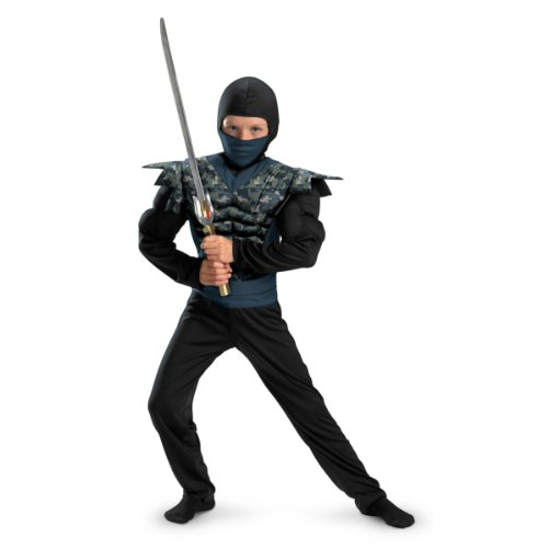 Shadow Ninjas Night Fury Night Camo Ninja Classic Muscle Boys Costume, 7-8 ()