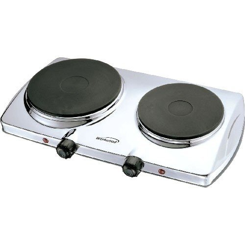 Brentwood - TS-372 Electric Twin Burner - Chrome, Stainless - Brentwood Ca