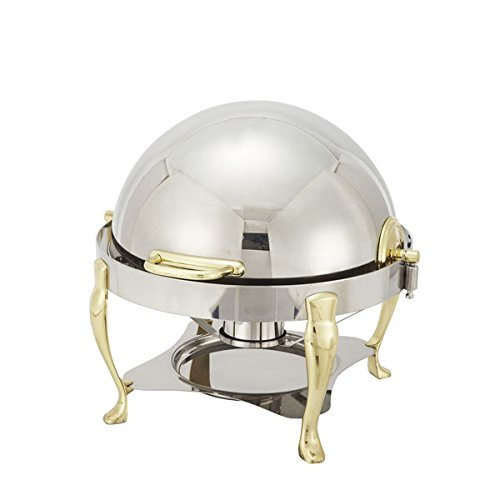 Winco 308A Gold Plated Round Chafing Dish