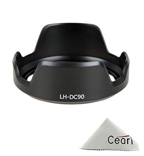 CEARI Dedicated Petal Replacement LH-DC90 Bayonet Lens Hood for Canon PowerShot SX60 HS Digital Camera + CEARI Microfiber Clean Cloth