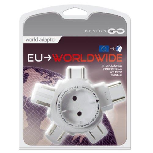 Go Travel - Design Go Weltreise-Adaptor (Europa-Weltweit), weiß