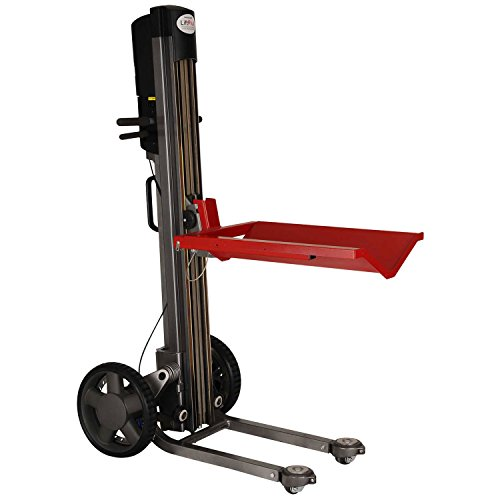 (Magliner LPS4814NV1 LiftPlus Folding Battery Powered Lift Truck - V-Tray &)