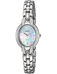 Womens TRESSIA Quartz Stainless Steel Casual Watch, Color:Silver-Toned (