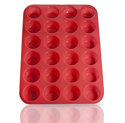 silicone mini cupcake pans 24 cup microwave dishwasher safe. Black Bedroom Furniture Sets. Home Design Ideas