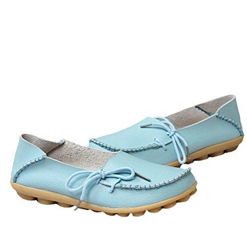 Vogstyle - Zapatillas de casa Mujer Estilo 1-Azul claro