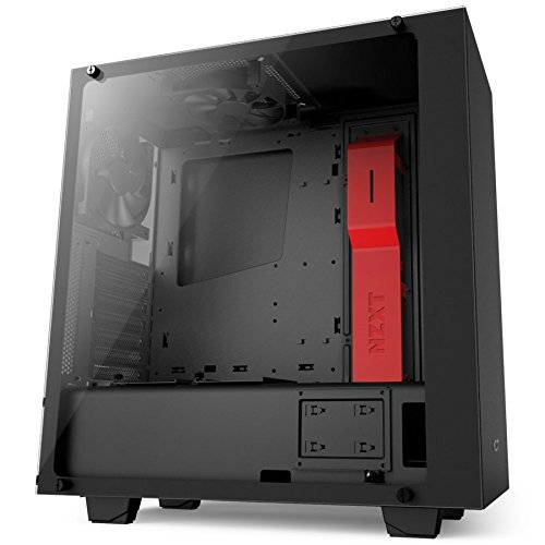 NZXT S340 Elite ATX Mid Tower Computer Case, Matte Black/Red (Eclipse Split Compact)