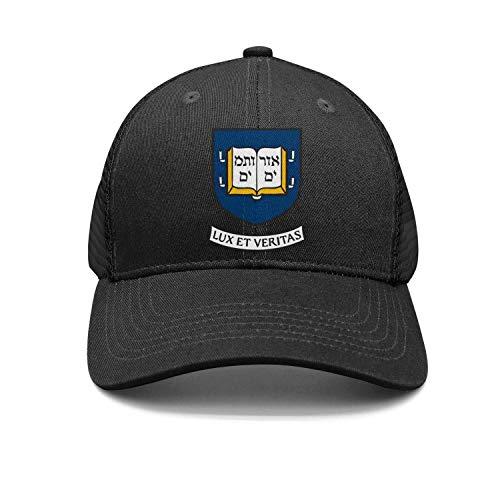 Andrecaps Men's Street Dancing Strapback Hat The-Yale-University-Logo- Adjustable Visor Cap (Northeastern University Hat)