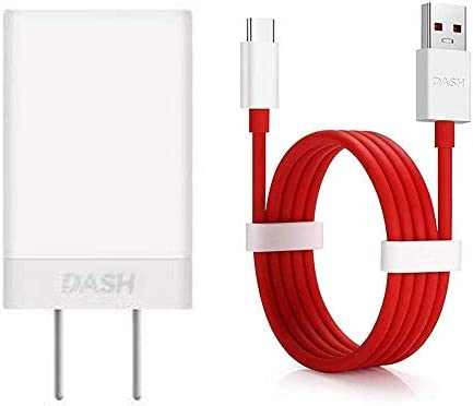 OnePlus 6 6T/Oneplus 5/ 5T/ 3/3T/A3000/A5000 /7/7 Pro Dash Charger and  Cable, Dash Type C USB Fast Charging Data Cable and Dash USB Power Charger  AC