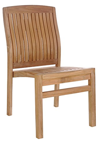 Amazon Com Chic Teak Teak Belize Side Chair Made Garden Outdoor