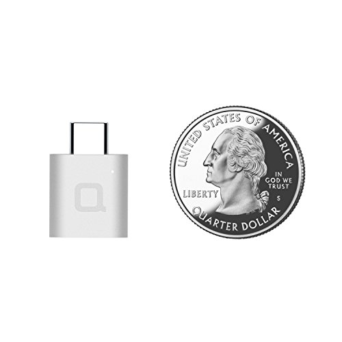 Nonda Mini portable USB Type C to USB 3.0 Adapter with Indicator LED for For MacBooks, Samsung, Chromebook, OnePlus, Pixel 3, Dell XPS and More Type-C Devices (Silver)