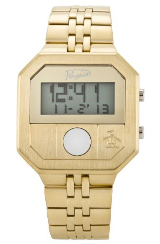 Original Penguin Men's OP3034GD Cary All Gold Plated Stainless Steel Digital Watch