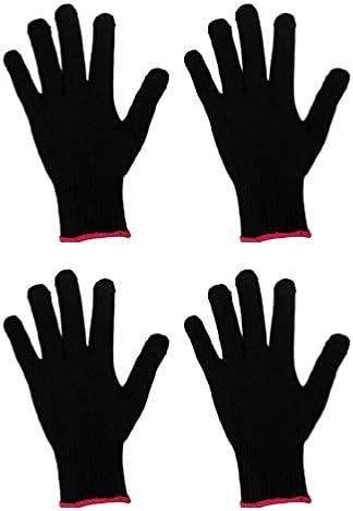 HEALLILY Hittebestendige Grillen Handschoenen Hittebestendige Handschoen Voor Barbecue Koken Bakken Snijden 4 Stuks Geen Siliconen