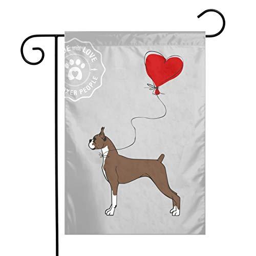 BRENDA SMALL Boxer Dog Garden Flag 12