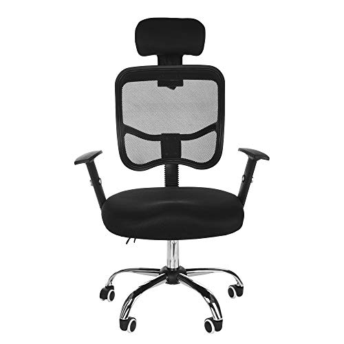 - Office Work Swivel Chair Home Computer Network Ergonomic Stool Adjustable Height Manual Installation Head Pillow Backrest Chassis Hydraulic Rod Pulley 360 Rotation Barstools