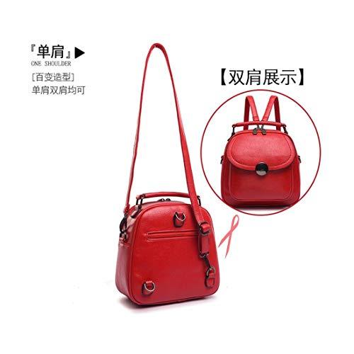 Women's Multi BB red Backpack Handbag Bag LIUXINDA Bag Single Wallet Satchel Bag Bag Shoulder Shoulder Long Single pnTU4wqwx