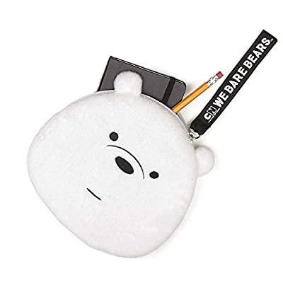 """GUND We Bare Bears Ice Bear Deluxe Plush Zipper Pouch, 8"""", Multicolor: Toys & Games"""