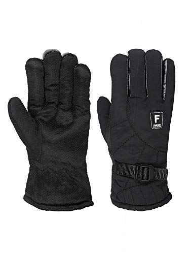 FabSeasons Unisex Water Resistant Winter ski & snowboard Gloves, Fleece cloth on the inside and Polyester material on…