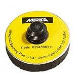 Mirka 1125S-R 1-1/4'' Vinyl Soft Faced Backup Pad w/Twist-Lock, Qty 10 per pk/bx)