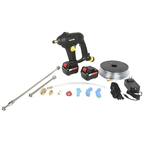 SaintGE PPS G15-Li Portable Chemical Power Sprayer, 15V Lithium-ion (2.6AH), Cordless Pressure Washer, 2 Batteries Included
