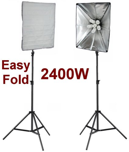 (Ardinbir Studio 2400w 5500K Daylight Continuous Cool Fluorescent Video Lighting Kit with Portable Collapsable Easy Open 20