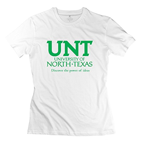 white-100-cotton-university-of-north-texasa-t-shirts-for-womens-size-m