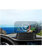 Head Up Display C2 Car HUD Head Up Display GPS Navigation OBD2 Scanner On-Board Computer Bluetooth Speedometer Projection for All Vehicle