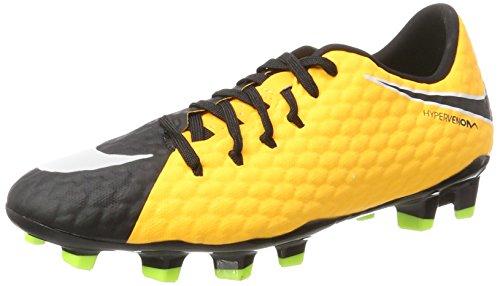 FG NIKE Naranja fútbol Volt Phelon Black black III Hombre Orange white para Hypervenom Laser vert de Botas qAtATr