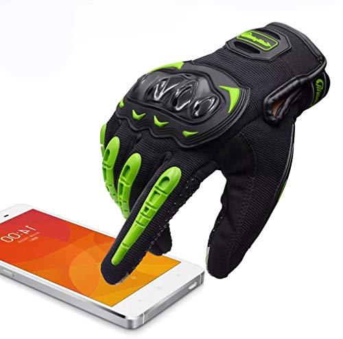 ARTOP Motorradhandschuhe Touch Screen Anti-Rutsch Anti-Kollision Motorrad Handschuhe Sehr Guter Schutz für Herren(Grün…