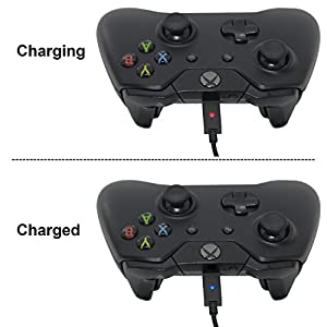 Xbox One Battery Pack 2PCS x 1200 mAh Xbox One Rechargeable Battery and 5FT Micro USB Charging Cable with LED Indicator Light Kit for Xbox One / Xbox One X / Xbox One S Wireless Controllers