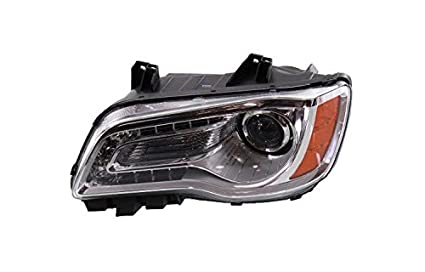 CHRYSLER SERIES 300 11-14 ASSEMBLY HALOGEN CHROME BEZEL DRIVER SIDE Depo 333-1193L-AS Headlight Assembly