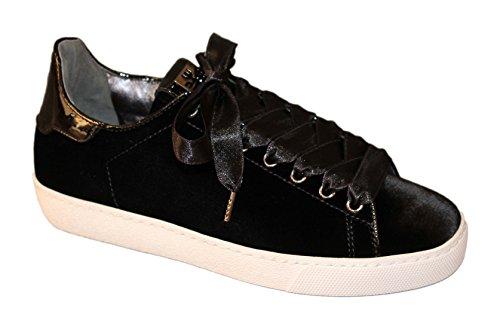 Negro para Högl de Zapatillas Mujer Terciopelo 4qw7SFzAxf