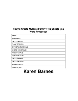 amazon com how to create multiple family tree sheets in a word