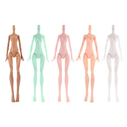 Photo Fenteer Custom Moveable Joints Nude Doll Body Mold for Monster High Dolls DIY Making and Repairing Accessory Set of 5 Pieces