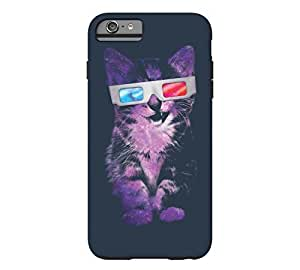3D Sace Cat iPhone 6 Plus Navy Blue Tough Phone Case - Design By FSKcase? by icecream design