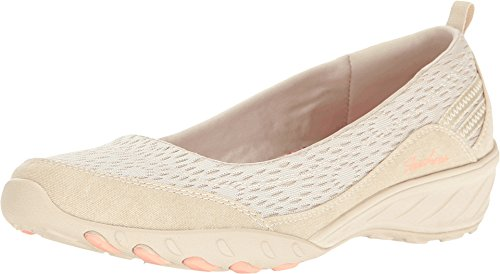 Skechers Women's Relaxed Fit Savvy Winsome Wedge,Natural,US 8.5 M