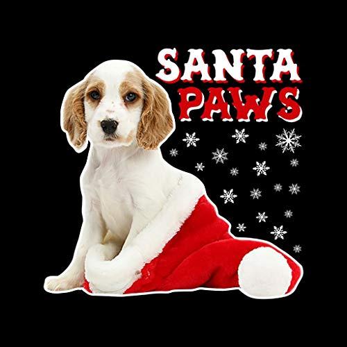 Paws Women's Christmas Dog Santa Coto7 Black Sweatshirt ax0gOg